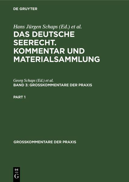 Das deutsche Seerecht : Kommentar und Materialsammlung - Coverbild