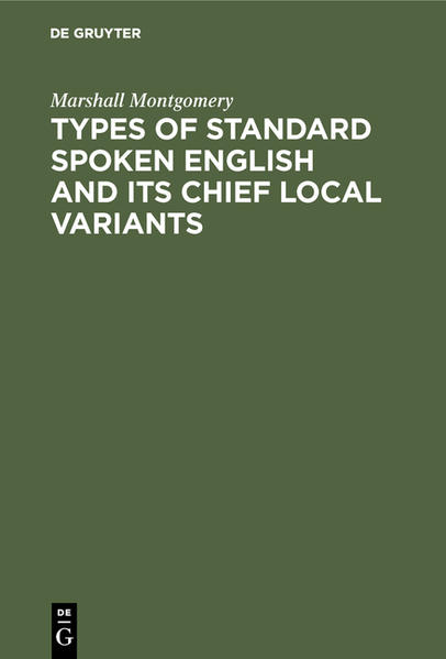 Types of standard spoken English and its chief local variants - Coverbild