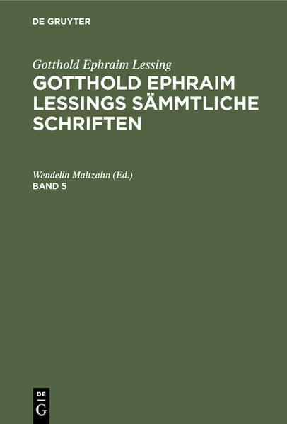 [Sämmtliche Schriften] @Gotthold Ephraim Lessings Sämmtliche Schriften - Coverbild
