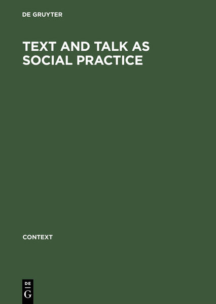 Text and talk as social practice - Coverbild
