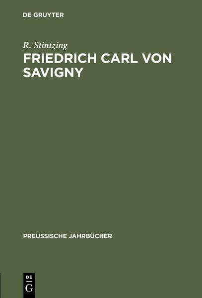 Friedrich Carl von Savigny - Coverbild