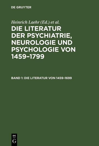Die Literatur von 1459 - 1699 - Coverbild