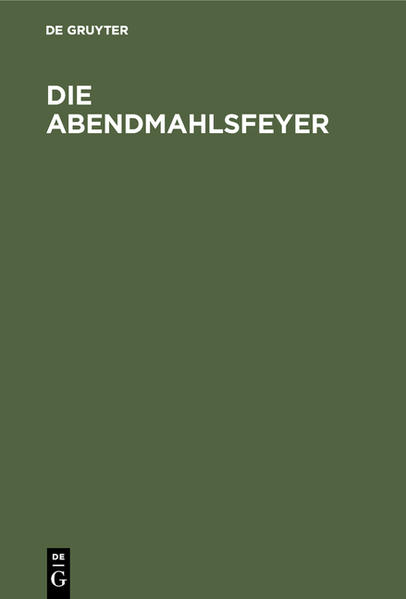 Die Abendmahlsfeyer - Coverbild