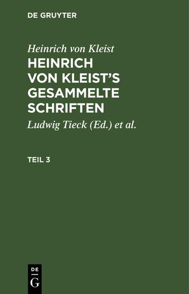 [Gesammelte Schriften] Heinrich von Kleist's gesammelte Schriften - Coverbild