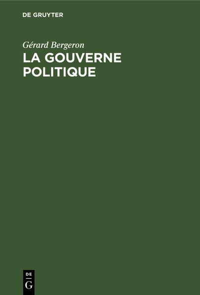 La gouverne politique - Coverbild