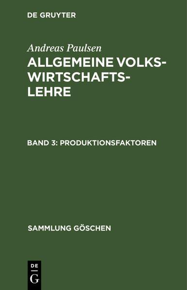 Allgemeine Volkswirtschaftslehre / Produktionsfaktoren - Coverbild