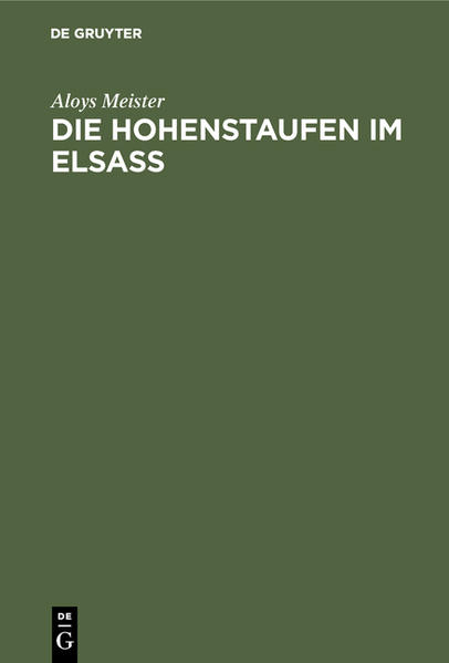 Die Hohenstaufen im Elsass - Coverbild