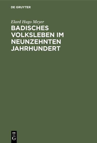 Badisches Volksleben im neunzehnten Jahrhundert - Coverbild