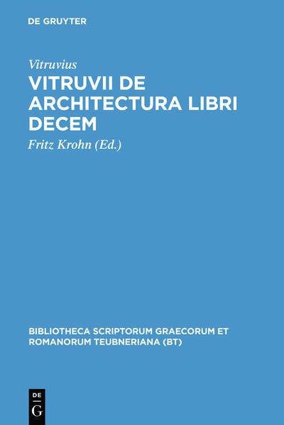 Vitruvii de architectura libri decem - Coverbild