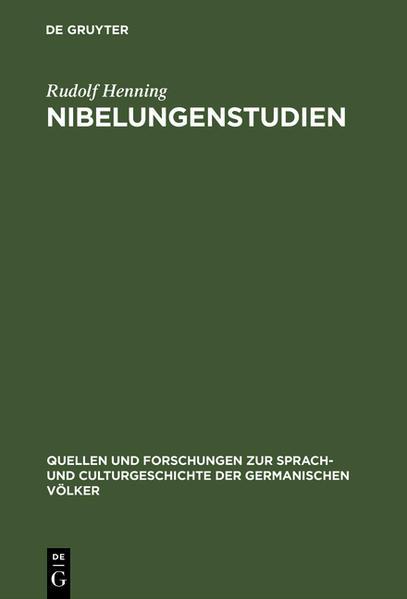 Nibelungenstudien - Coverbild