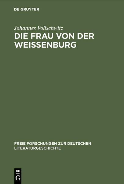 Die Frau von der Weißenburg - Coverbild