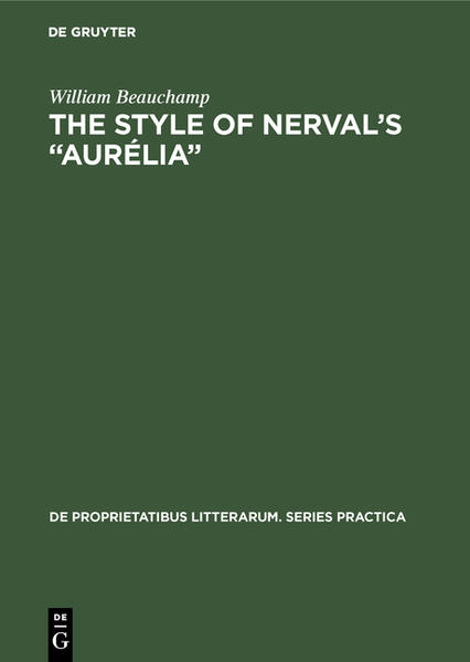 The style of Nerval's