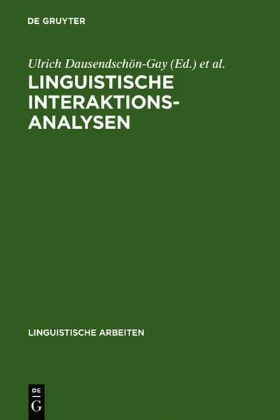 Linguistische Interaktionsanalysen - Coverbild