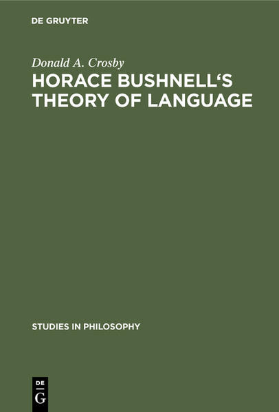 Horace Bushnell's theory of language - Coverbild