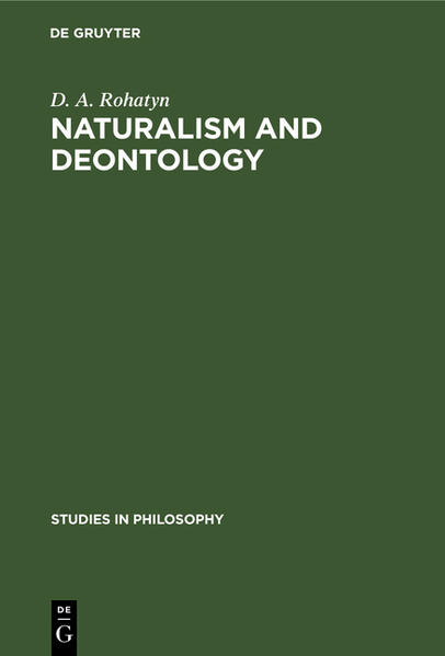 Naturalism and deontology - Coverbild