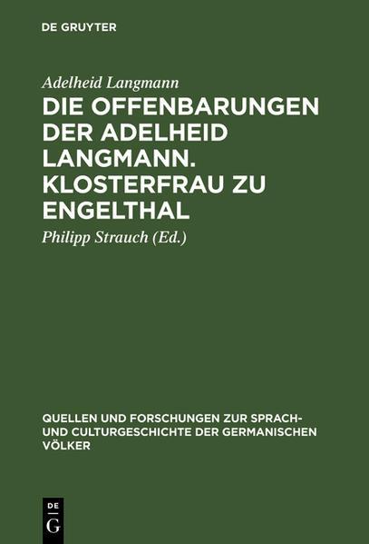 Die Offenbarungen der Adelheid Langmann, Klosterfrau zu Engelthal - Coverbild