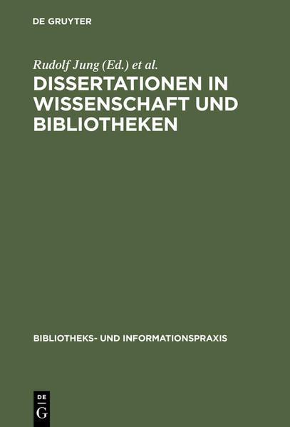 Dissertationen in Wissenschaft und Bibliotheken - Coverbild