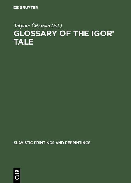 Glossary of the Igor' Tale - Coverbild