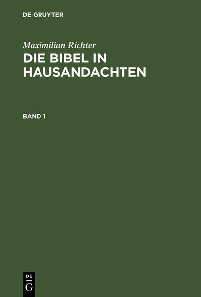 Die Bibel in Hausandachten : für zwei Kirchenjahre - Coverbild
