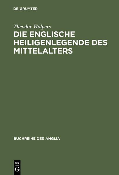 Die englische Heiligenlegende des Mittelalters - Coverbild