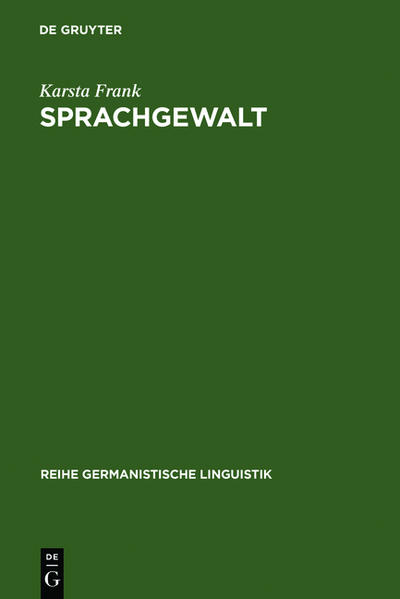 Sprachgewalt: Die sprachliche Reproduktion der Geschlechterhierarchie - Coverbild