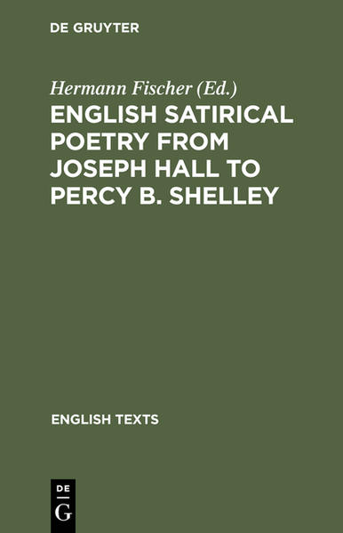 English satirical poetry from Joseph Hall to Percy B. Shelley - Coverbild