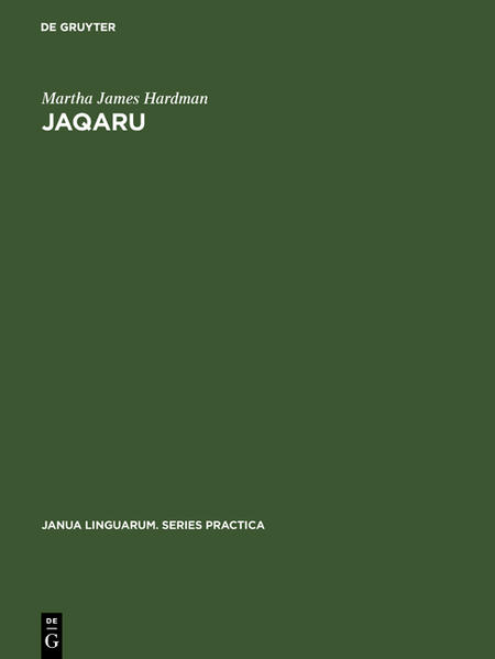 Jaqaru: Outline of phonological and morphological structure - Coverbild