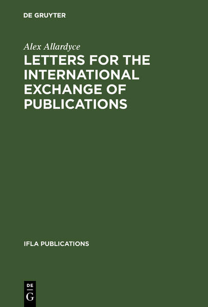Letters for the international exchange of publications - Coverbild
