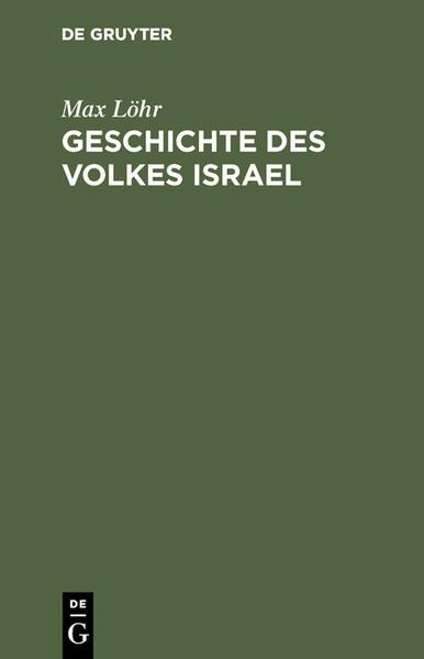 Geschichte des Volkes Israel - Coverbild