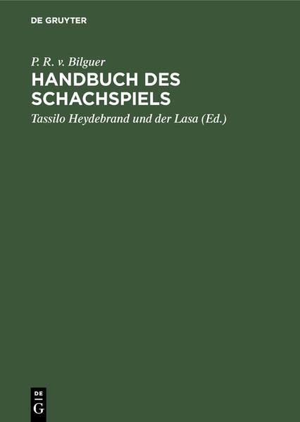 Handbuch des Schachspiels - Coverbild