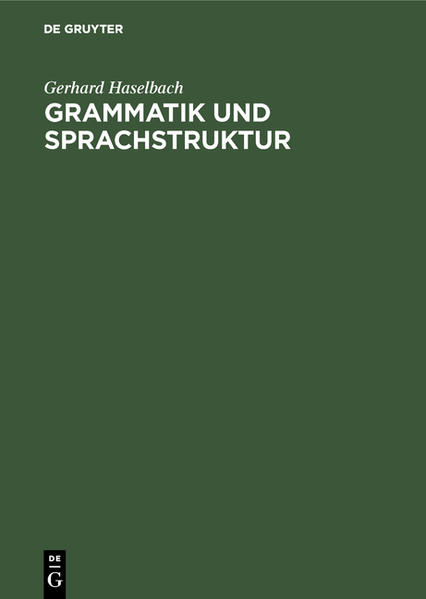 Grammatik und Sprachstruktur - Coverbild