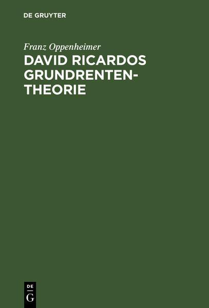 David Ricardos Grundrententheorie - Coverbild