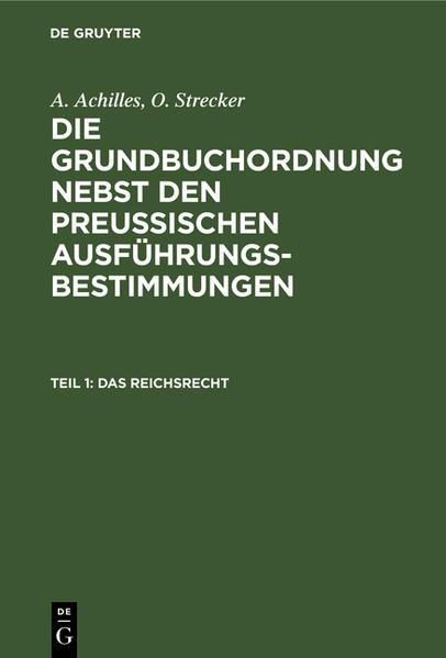 Das Reichsrecht - Coverbild