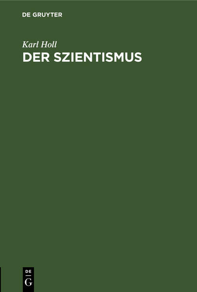 Der Szientismus - Coverbild