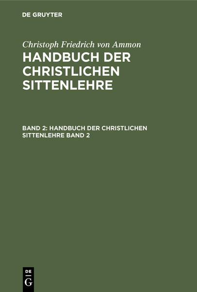 Handbuch der christlichen Sittenlehre - Coverbild