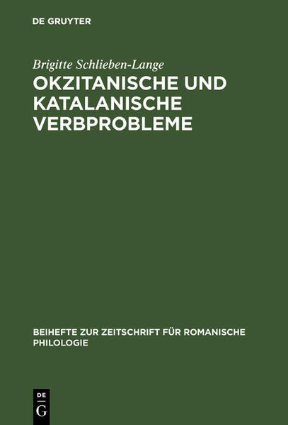 Okzitanische und katalanische Verbprobleme - Coverbild