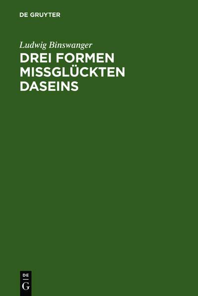 Drei Formen missglückten Daseins - Coverbild