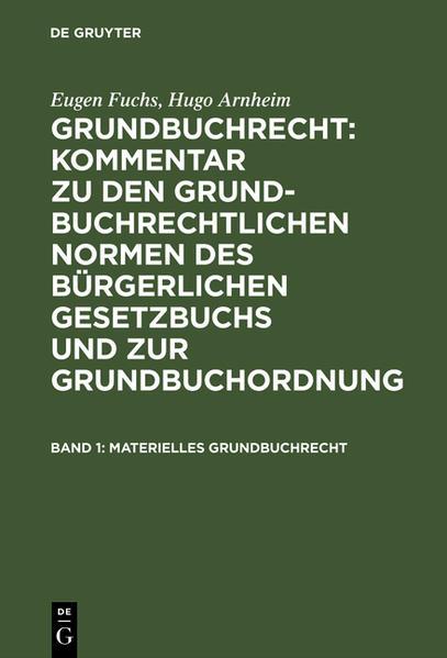 Materielles Grundbuchrecht - Coverbild