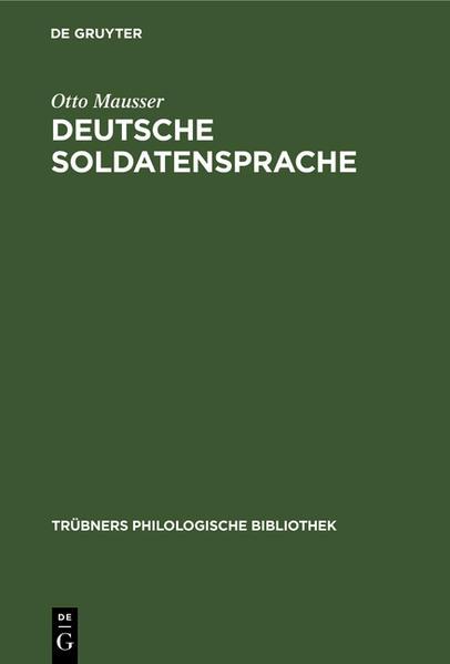 Deutsche Soldatensprache - Coverbild