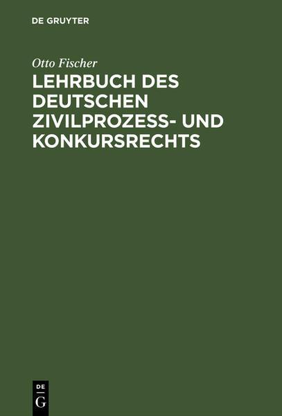 Lehrbuch des deutschen Zivilprozeß- und Konkursrechts - Coverbild