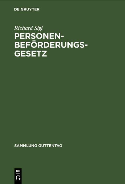 Personenbeförderungsgesetz - Coverbild