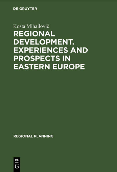 Regional development. Experiences and prospects in eastern Europe - Coverbild