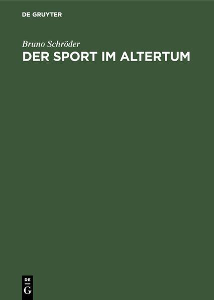 Der Sport im Altertum - Coverbild