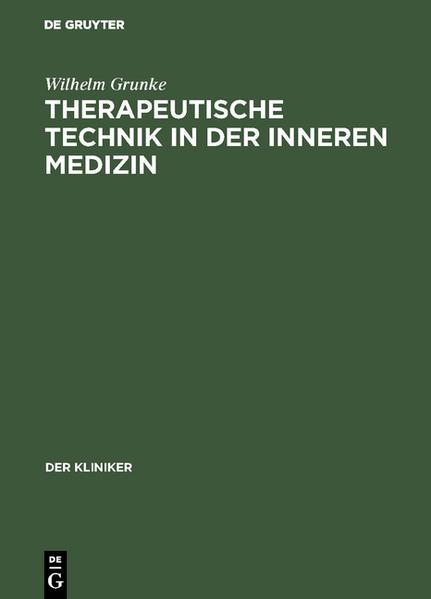 Therapeutische Technik in der inneren Medizin - Coverbild