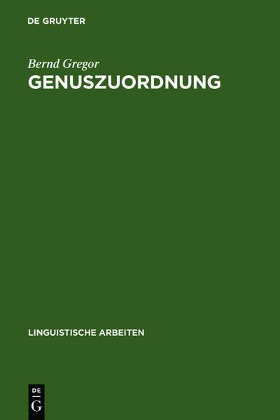 Genuszuordnung - Coverbild