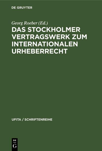 Das Stockholmer Vertragswerk zum internationalen Urheberrecht - Coverbild