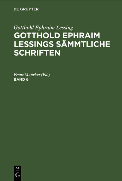 [Sämtliche Schriften] Gotthold Ephraim Lessings sämtliche Schriften - Coverbild