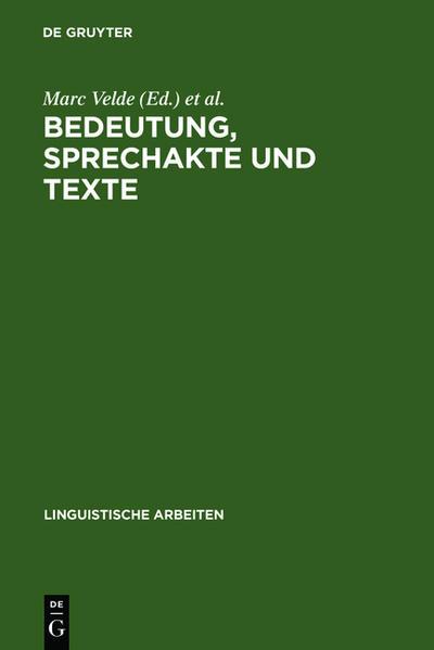 Bedeutung, Sprechakte und Texte - Coverbild