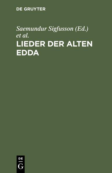 Lieder der alten Edda - Coverbild