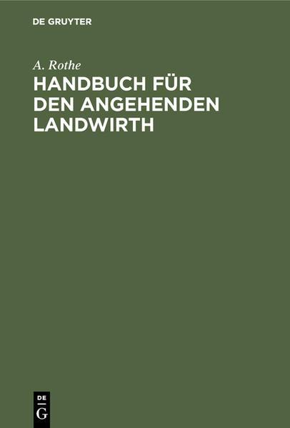 Handbuch für den angehenden Landwirth - Coverbild